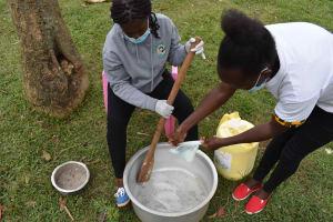 The Water Project: Mundoli Community, Pamela Atieno Spring -  Soap Making