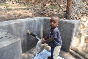 The Water Project: Lunyinya Community, Makunga Spring -  Allan Age Two At Water Point