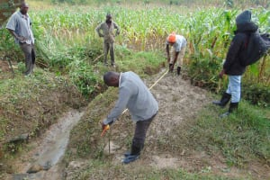 The Water Project: Lunyinya Community, Makunga Spring -  Foundation Measurements