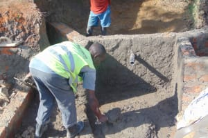 The Water Project: Lunyinya Community, Makunga Spring -  Inside Plaster