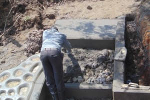 The Water Project: Lunyinya Community, Makunga Spring -  Stairs Construction