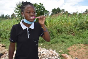 The Water Project: Lunyinya Community, Makunga Spring -  Dental Hygiene Training