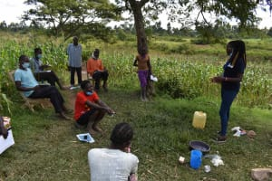 The Water Project: Lunyinya Community, Makunga Spring -  Participants At Training