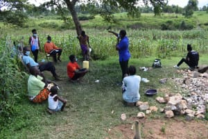 The Water Project: Lunyinya Community, Makunga Spring -  Participants Listening At Training