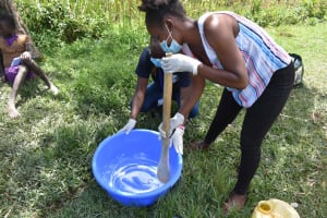 The Water Project: Lunyinya Community, Makunga Spring -  Soapmaking Demonstration