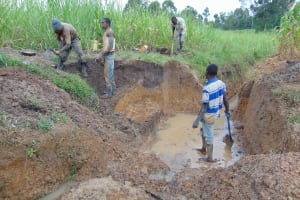 The Water Project: Makunga Community, Tabarachi Spring -  Excavation