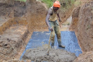 The Water Project: Makunga Community, Tabarachi Spring -  Building Foundation