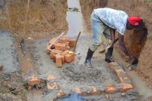 The Water Project: Makunga Community, Tabarachi Spring -  Brickworks