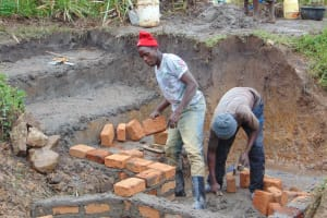The Water Project: Makunga Community, Tabarachi Spring -  Walls Getting Taller