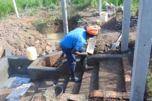 The Water Project: Makunga Community, Tabarachi Spring -  Stair Construction