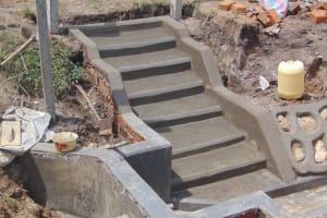 The Water Project: Makunga Community, Tabarachi Spring -  Stairs Done
