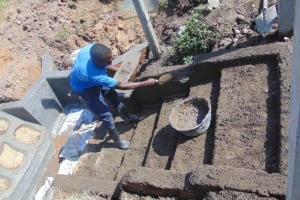 The Water Project: Makunga Community, Tabarachi Spring -  Stairs In Progress