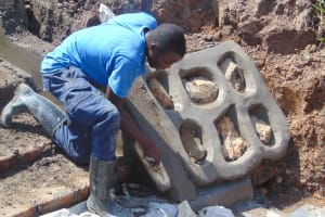The Water Project: Makunga Community, Tabarachi Spring -  Stone Pitching