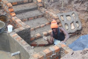 The Water Project: Makunga Community, Tabarachi Spring -  Plastering Walls