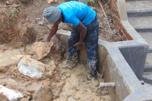 The Water Project: Makunga Community, Tabarachi Spring -  Backfilling Clay