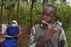 The Water Project: Makunga Community, Tabarachi Spring -  Brushing Teeth