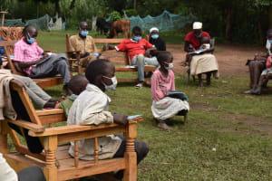 The Water Project: Makunga Community, Tabarachi Spring -  Children Listening