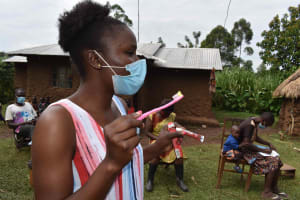 The Water Project: Makunga Community, Tabarachi Spring -  Dental Hygiene