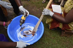 The Water Project: Makunga Community, Tabarachi Spring -  Mixing Soap