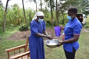 The Water Project: Makunga Community, Tabarachi Spring -  Participant Handwashing
