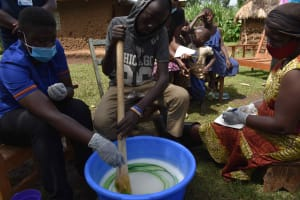 The Water Project: Makunga Community, Tabarachi Spring -  Soap In Progress
