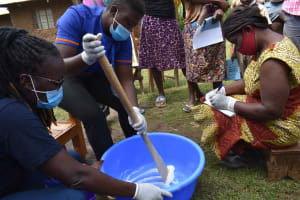 The Water Project: Makunga Community, Tabarachi Spring -  Soap Making