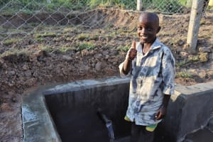 The Water Project: Makunga Community, Tabarachi Spring -  Brian T