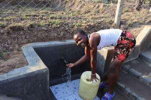 The Water Project: Makunga Community, Tabarachi Spring -  Laughing