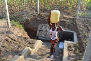 The Water Project: Makunga Community, Tabarachi Spring -  Stairs