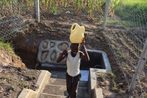 The Water Project: Makunga Community, Tabarachi Spring -  Thumbs Up