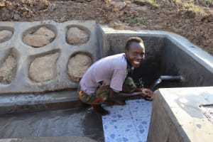 The Water Project: Makunga Community, Tabarachi Spring -  What A Relief