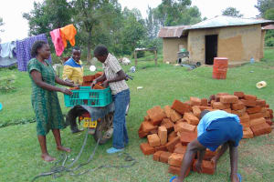 The Water Project: Malimali Community, Onyango Spring -  Brick Delivery