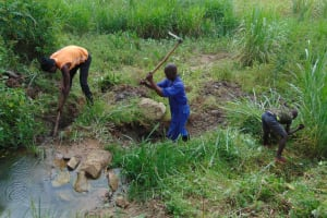 The Water Project: Malimali Community, Onyango Spring -  Site Clearance