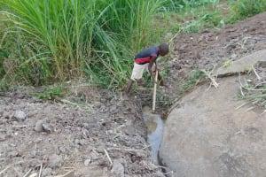 The Water Project: Malimali Community, Onyango Spring -  Drainage Channel