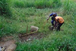 The Water Project: Malimali Community, Onyango Spring -  Site Measurement