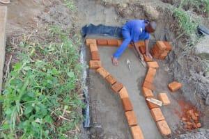 The Water Project: Malimali Community, Onyango Spring -  Brickwork Begins