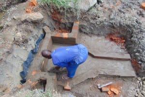 The Water Project: Malimali Community, Onyango Spring -  Wall Construction
