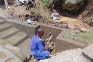 The Water Project: Malimali Community, Onyango Spring -  Plaster Works