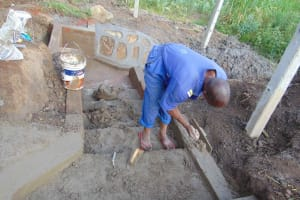 The Water Project: Malimali Community, Onyango Spring -  Stair Construction