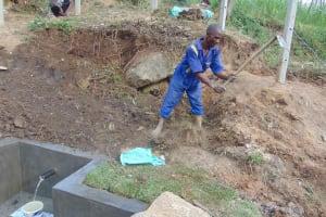 The Water Project: Malimali Community, Onyango Spring -  Backfilling