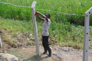 The Water Project: Malimali Community, Onyango Spring -  Fencing