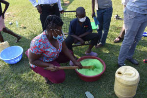 The Water Project: Malimali Community, Onyango Spring -  Soap Making