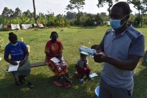 The Water Project: Malimali Community, Onyango Spring -  Solar Disinfection