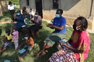 The Water Project: Malimali Community, Onyango Spring -  Trying Hangwashing