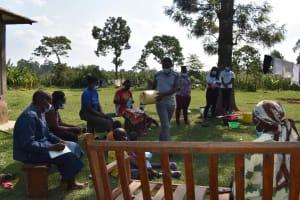 The Water Project: Malimali Community, Onyango Spring -  Water Handling