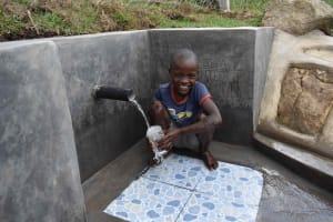 The Water Project: Malimali Community, Onyango Spring -  Omondi At The Spring