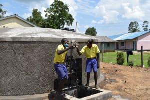 The Water Project: Namushiya Primary School -  Cheers