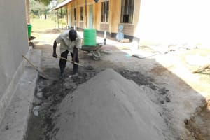 The Water Project: Namushiya Primary School -  Mixing Cement