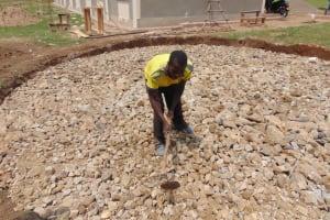 The Water Project: Namushiya Primary School -  Placing Gravel