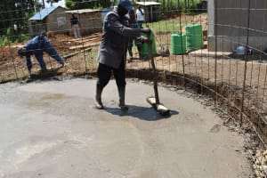 The Water Project: Namushiya Primary School -  Slab Setting